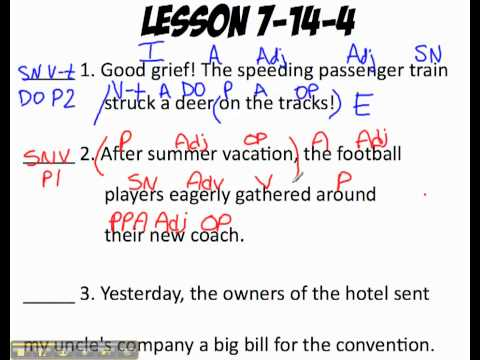 Printables Shurley English Worksheets shurley english pattern one sentence classification youtube