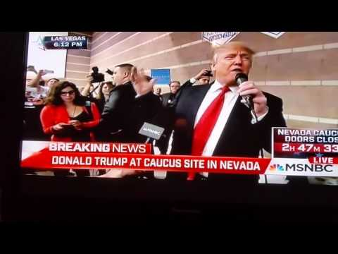 Trump shows up at Palo Verde school, Nevada Caucus 2016