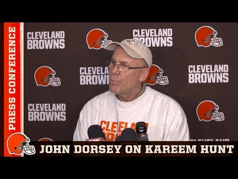 John Dorsey on Kareem Hunt 'He's Working Towards Being a Better Man' | Cleveland Browns