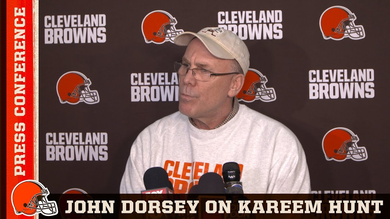 72fee5da John Dorsey on Kareem Hunt 'He's Working Towards Being a Better Man' |  Cleveland Browns