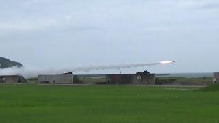 静内駐屯地創設・第7高射特科連隊創隊記念行事2014年 高速無人標的機発射・81式短距離地対空誘導弾(短SAM)対空射撃展示