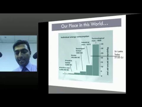 MESC PUBLIC LECTURE : An Overview of Sri Lanka's Energy Demand – Present and Projected Future
