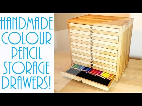 Colour Pencil Storage   Handmade Wooden Drawers!