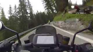 Passo di Giau Nordrampe | BMW R1200GS vs BMW K1300R | onboard only action (HD)