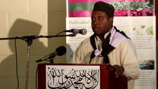 Mr  Jemuel Robateau speech topic The Holy Prophet (sa) - Prince of Peace