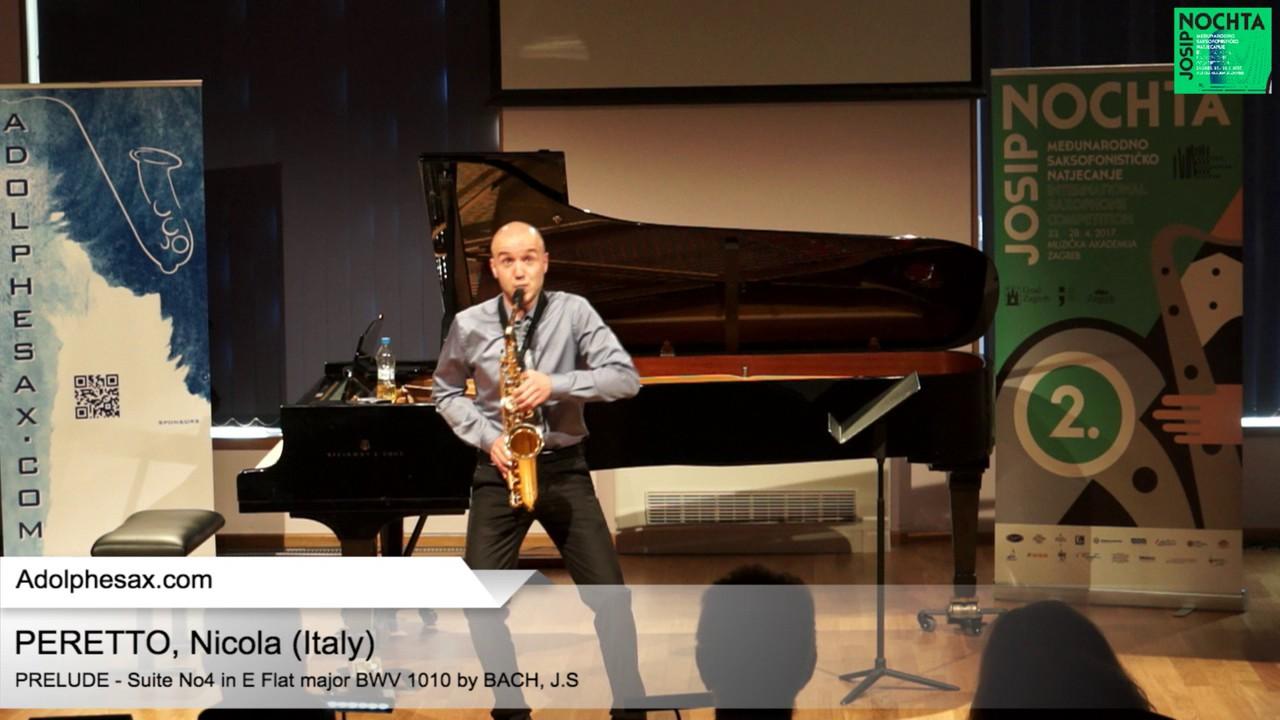 Johann Sebastian Bach – Suite No 4 in E  at major BWV 1010 – Pre?lude   PERETTO, Nicola (Itaty)