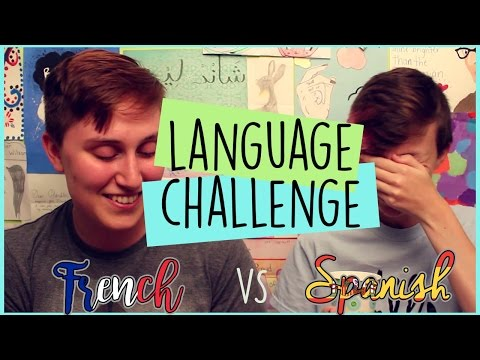 LANGUAGE CHALLENGE | (Québec) French vs Spanish | ChandlerNWilson