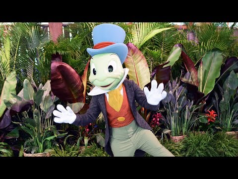 Jiminy Cricket at Disney's Animal Kingdom Earth Day 2019 - Our Favorite Meet w/Him EVER (He Dances!)