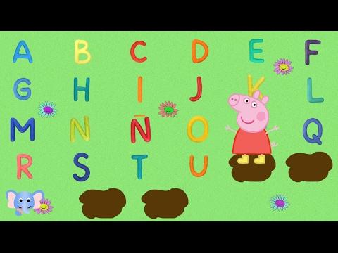 Aprende el abecedario con Peppa Pig | Learn alphabet