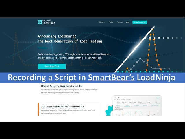 Recording Scripts in LoadNinja
