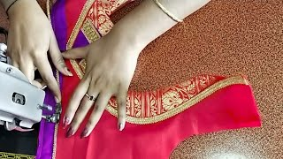 Bridal paithani blouse design /blouse back neck design cutting and stitching /blouse designs