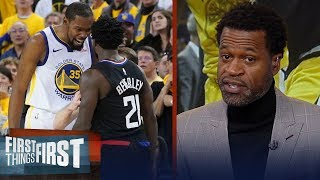 Patrick Beverley is getting the best of KD - Stephen Jackson | NBA | FIRST THINGS FIRST