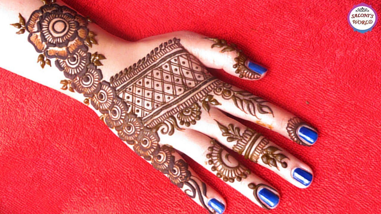 Gorgeous Mehndi Designs For Back Hand Floral Henna By Jyoti Sachdeva