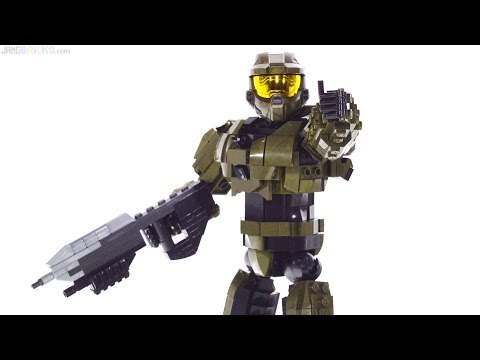Mega Construx Pro Builder Halo Master Chief large figure review!