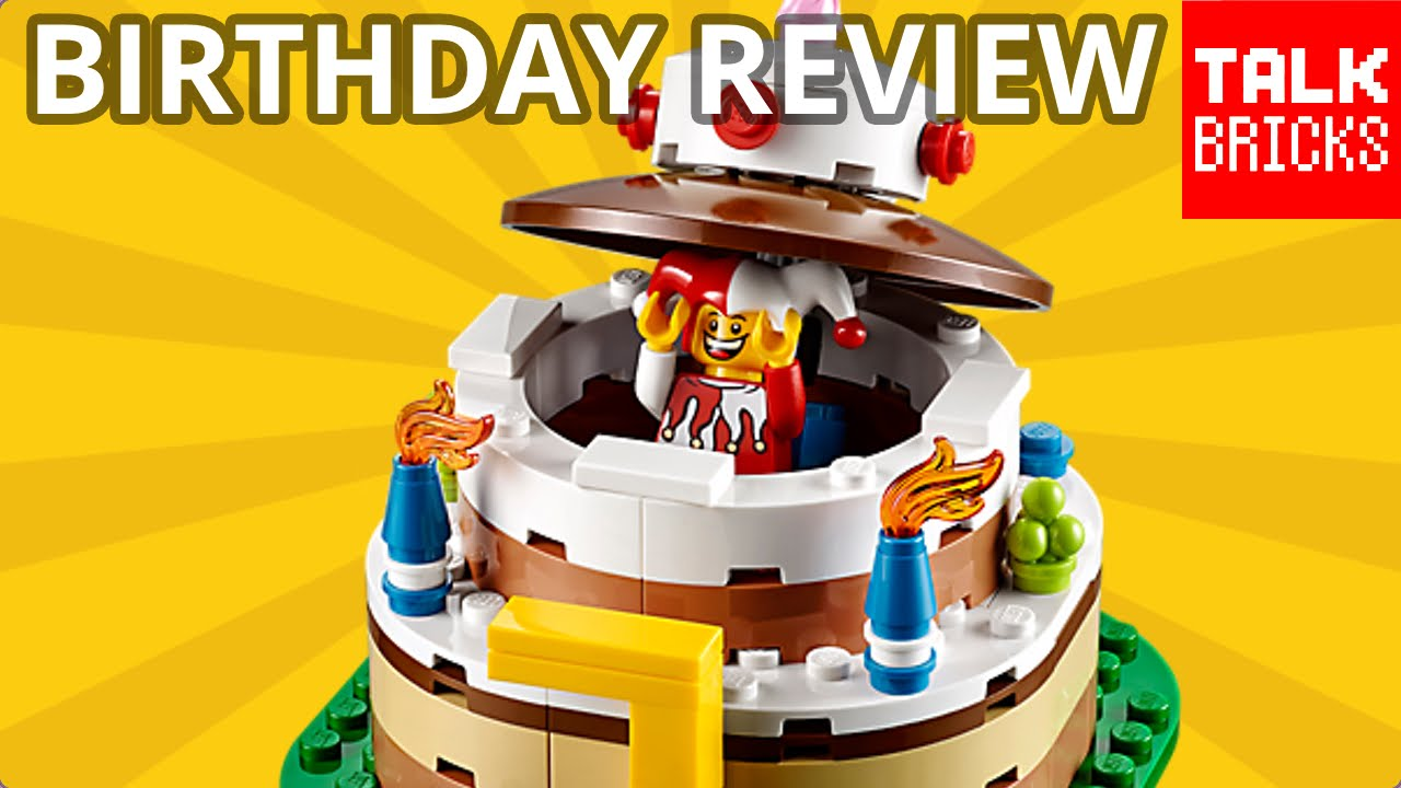 ITS MY BIRTHDAY Plus LEGO Cake Table Decoration Review Set 40153