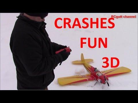 3D flying - Crashes - Fun - Plane VS Snow blower - Happy boys