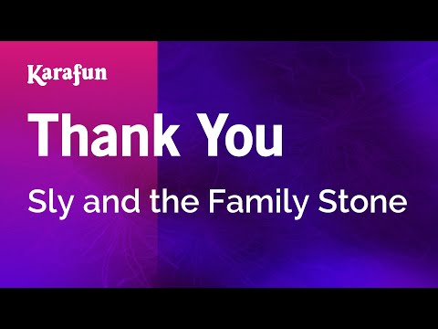 Karaoke Thank You - Sly And The Family Stone *