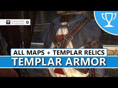 Assassin's Creed Rogue (PS4) - All Templar Maps / Relics Locations (Knight of Yore Trophy Guide)