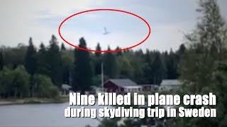 9 killed in plane crash during skydiving trip in Sweden