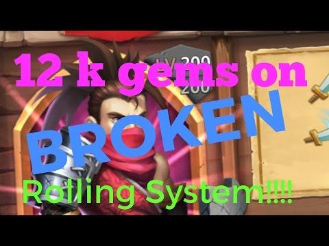 Castle Clash 12 K Gems On BROKEN Rolling System Plus Altar Review
