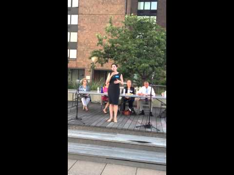 Manhattan BP Candidate Julie Menin Speaks at Waterside Plaza