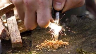 огниво ! Как правильно пользоваться / How to use a fire steel