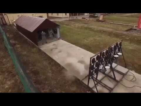 Robot Fedor - Showing its impressive shooting power