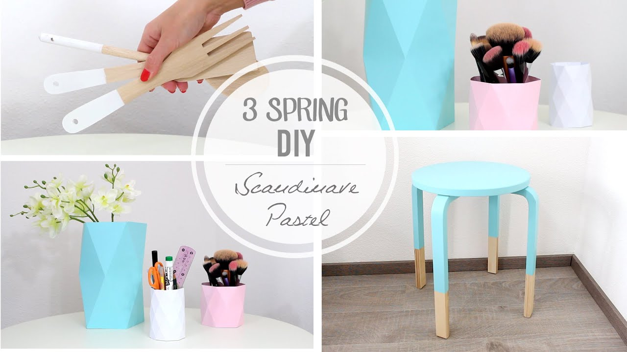 3 DIY déco Pastel / Scandinave - YouTube