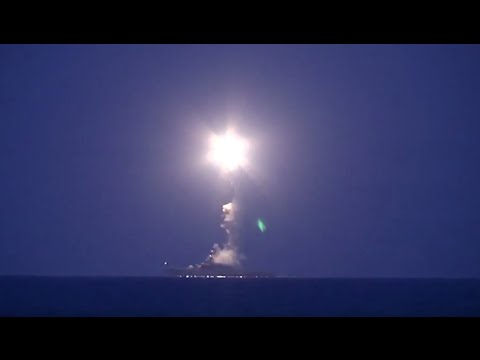 FIRST VIDEO: Russian warships attack ISIS positions in Syria from Caspian Sea