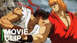 Evil Ken fights Ryu & the gang | Fight Sequence [HD] | Street Fighter II: The Animated Movie