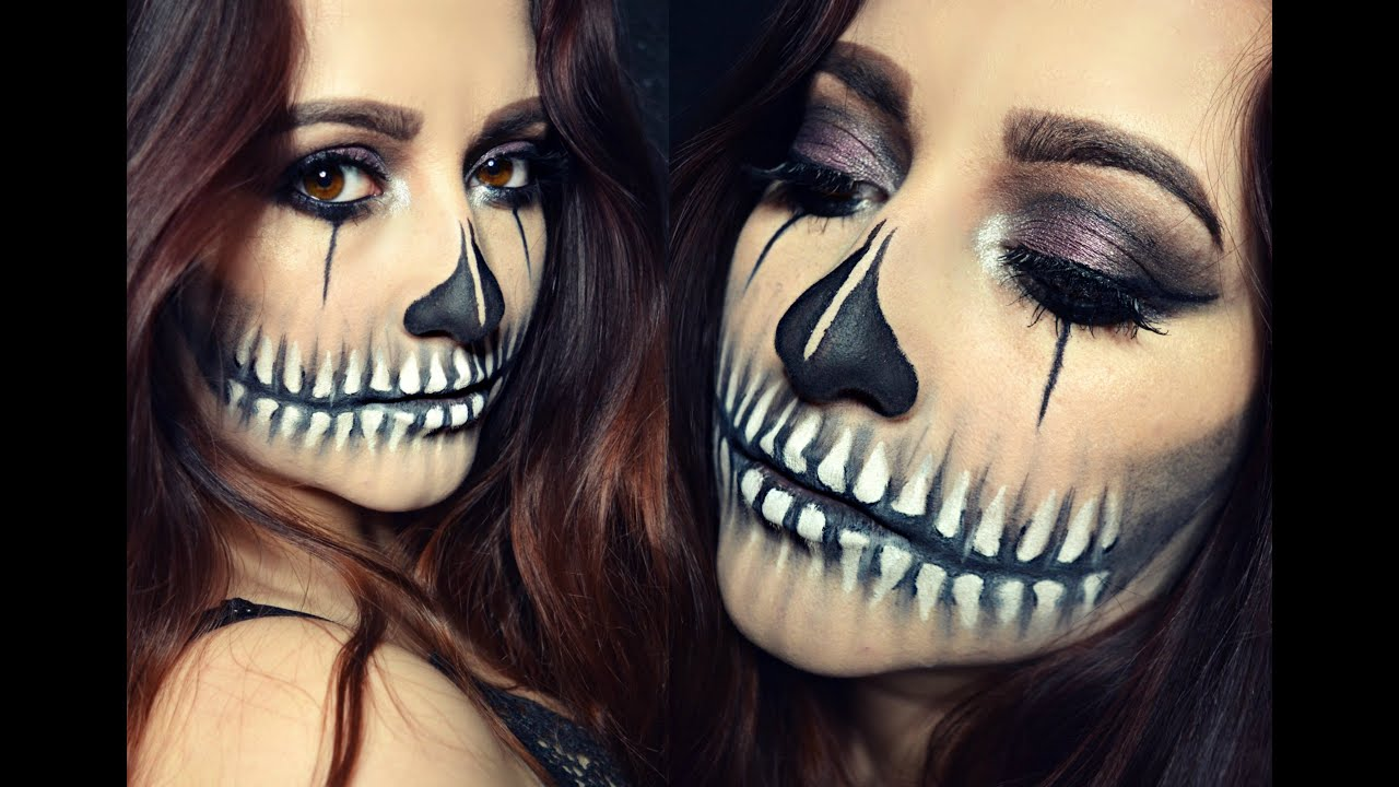 Half Skull Mouth Makeup Tutorial