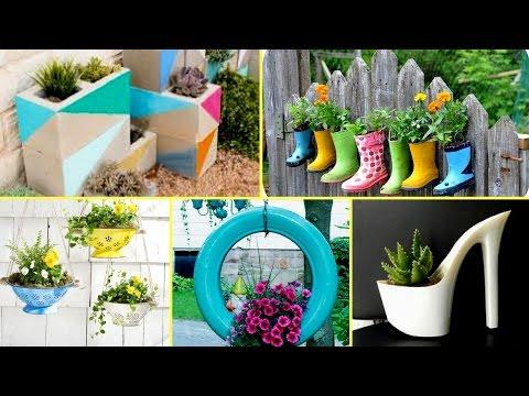 🌻50-+-creative-garden-flower-pot-ideas-2017---creative-diy-flower-pot🌻