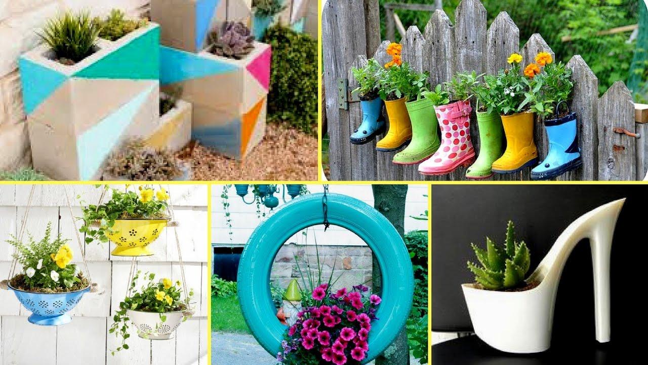 50 + Creative Garden Flower Pot Ideas 2017