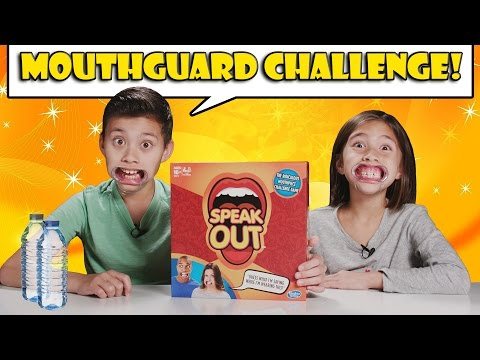 MOUTHGUARD CHALLENGE!!! Speak Out Game Time!