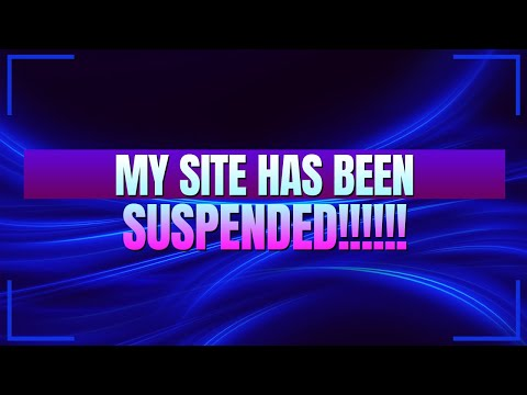 My Site Has Been Suspended! (Help Me Get It Back)