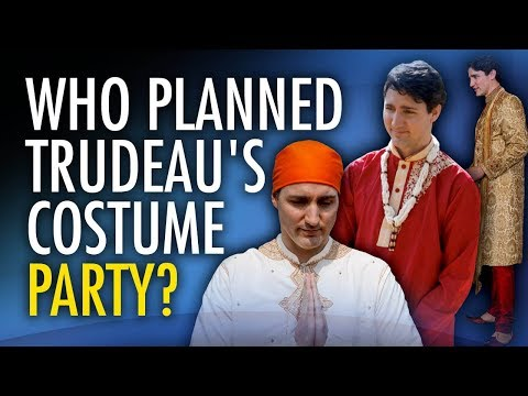 How much did Justin's week-long costume party in India cost Canadians?