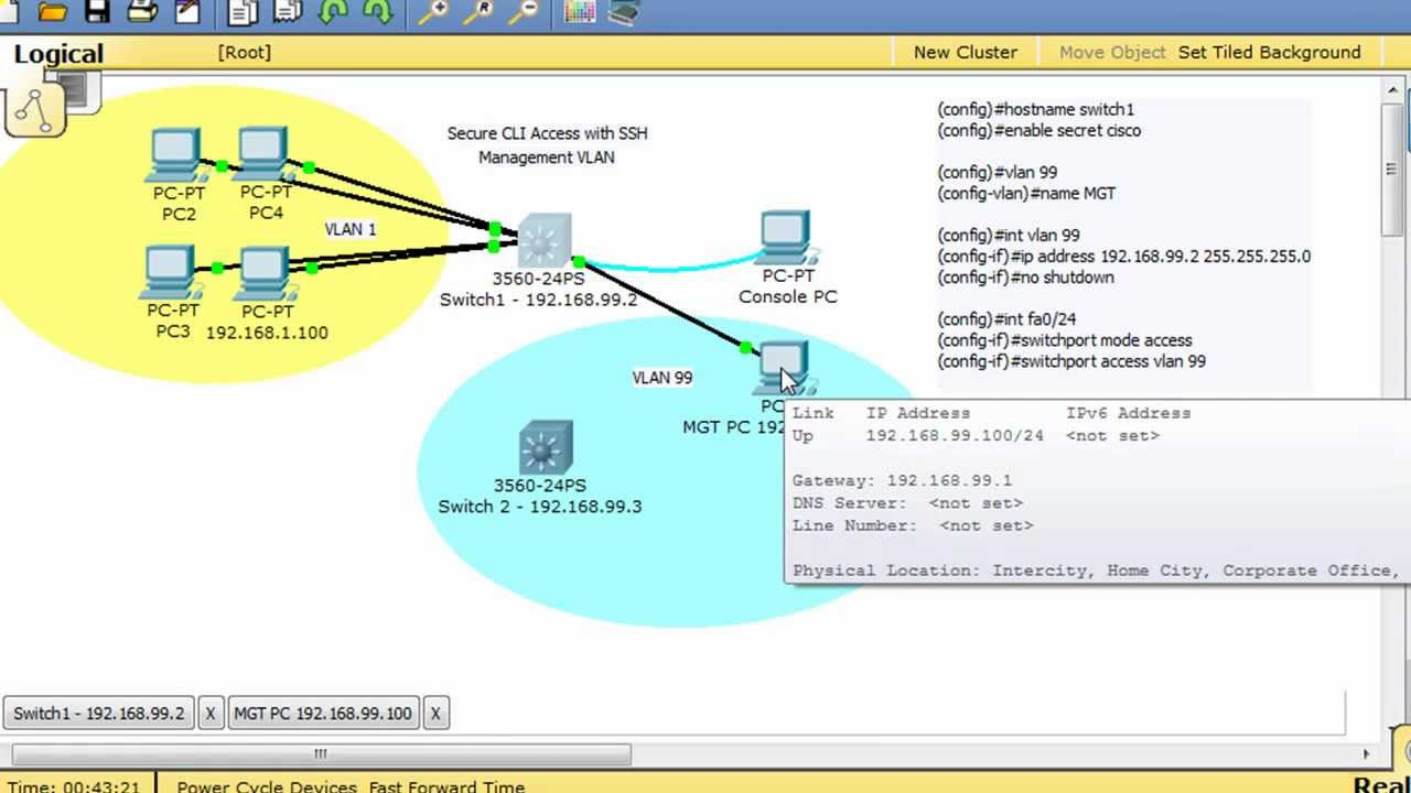 Configure a Cisco Switch for SSH access -Part 2 configure