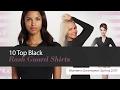 10 Top Black Rash Guard Shirts Women's Swimwear, Spring 2017