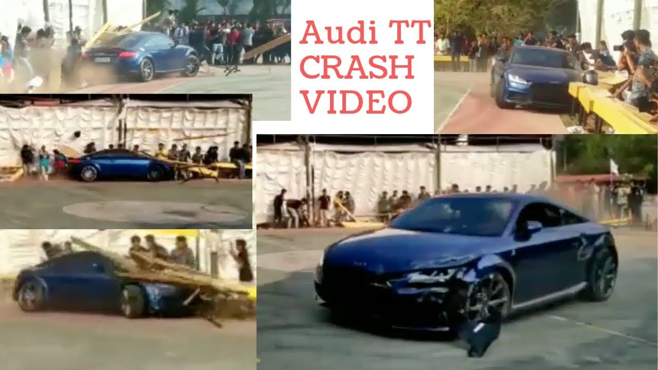 Audi Tt Drift Accident At Bishop Jerome College Of Engineering