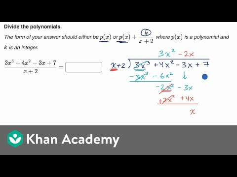 Polynomial division with remainder
