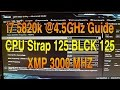 i7 5820k Overclocking Guide CPU Strap 125 BLCK 125