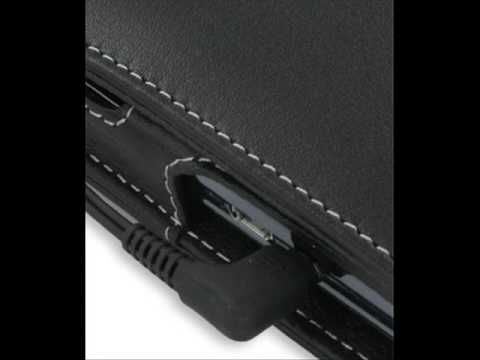 PDair Leather Case for HP iPAQ Voice Messenger - Flip Type (Black)