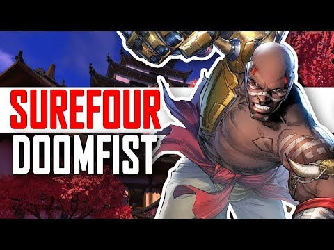 SUREFOUR DOOMFIST MAIN - 59 KILLS! [ OVERWATCH SEASON 5 TOP 500 ]