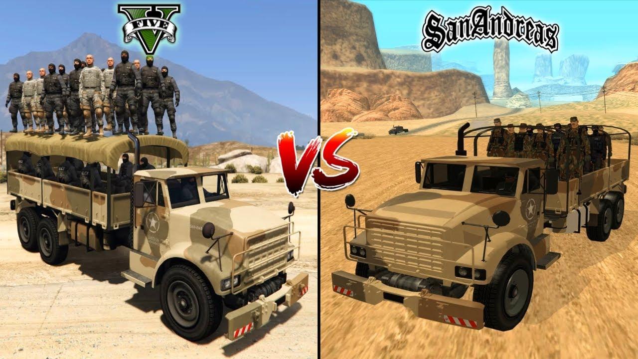 Download GTA 5 BARRACKS VS GTA SAN ANDREAS BARRACKS - WHICH IS BEST?