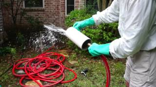 Water Bladder Drain Pipe Cleaner Demonstration