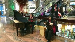 هنرنمایی و نوازندگی حرفه ای سه خانم محترم در یکی از پاساژهای تهران در شب یلدا