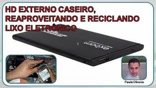HD EXTERNO CASEIRO, REAPROVEITANDO E RECICLANDO LIXO ELETRÔNICO