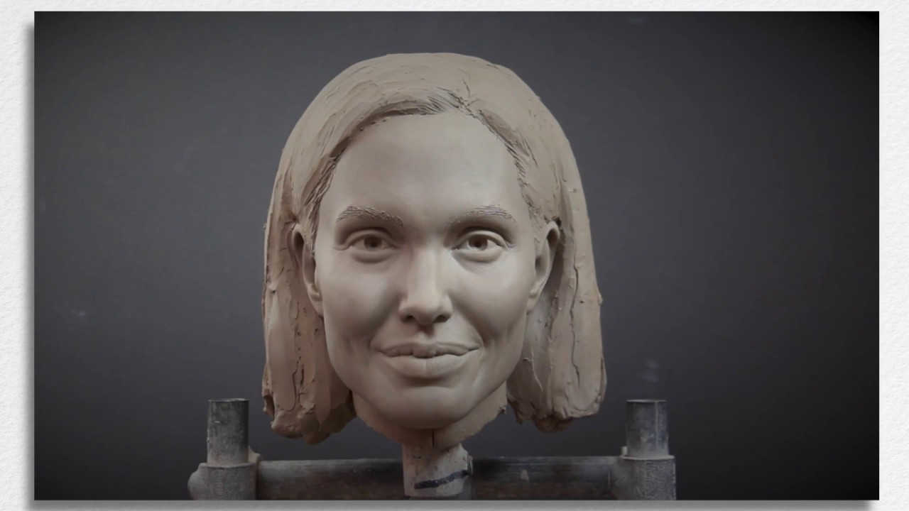 Sculpting Angelina Jolie Timelapse Portrait Sculpt