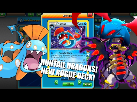 PTCGO New Rogue Idea, Huntail/Dragons Deck! Underdog of lots of energy in play attackers!