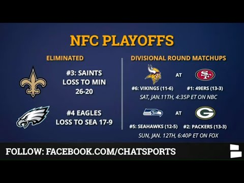 nfc playoff schedule bracket